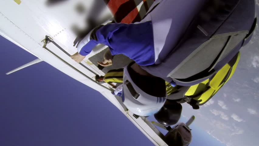 Skydiving video. - HD stock video clip