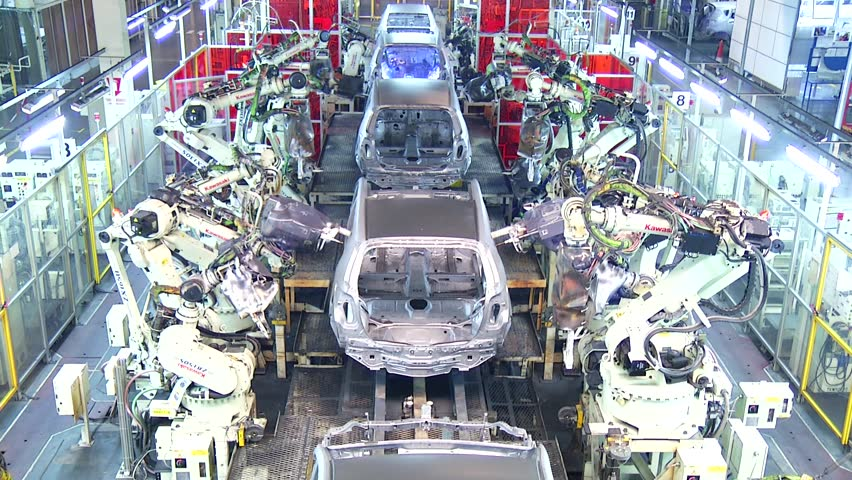 Technology of Automobile Factory, Robots in Factory