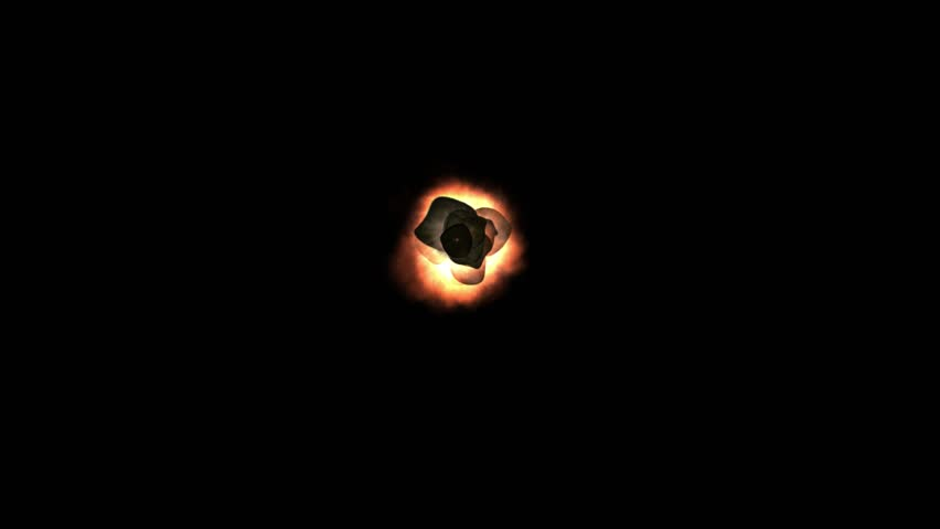 Explosion on black background - HD stock footage clip