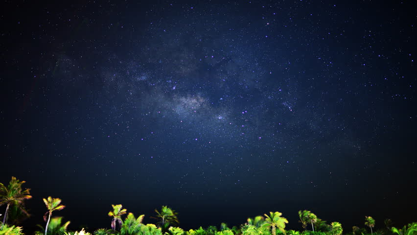 Astrophotography Time Lapse Of Milky Way Galaxy & Moon ...