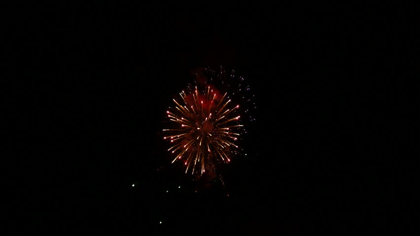 fireworks display on Independence Day July 4 USA with sound