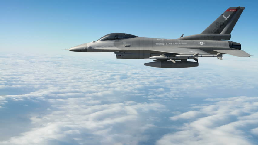F-16 Fighting Falcon.  F-16 Fighting Falcon is a U.S. single-engine multirole fighter aircraft. High-quality production ready 3d animation created in Maya Autodesk.