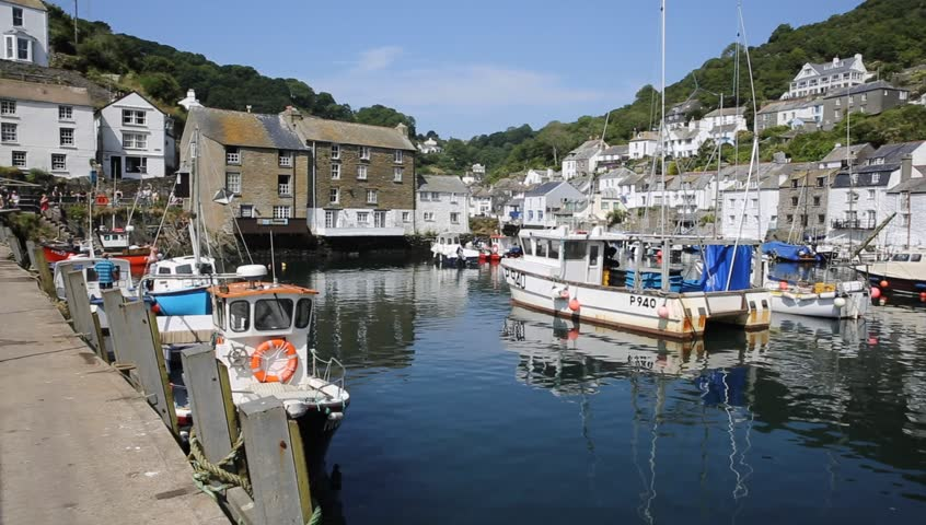 Polperro harbour Cornwall England UK