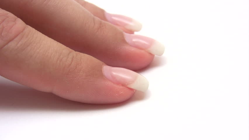 Painting Fingernails - HD stock footage clip
