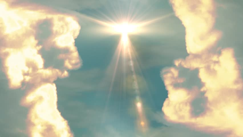 Heavenly clouds transition background | Shutterstock HD Video #4353374