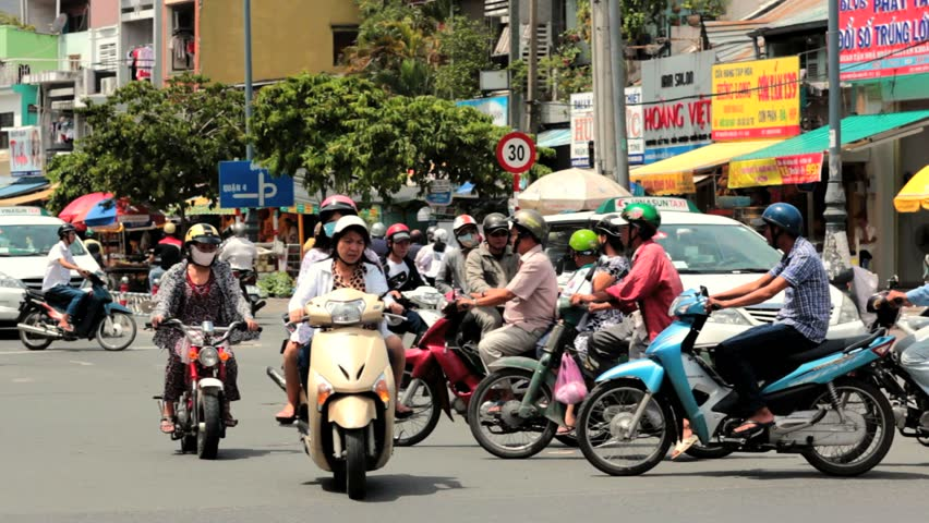 SAIGON - JULY 22: Road Traffic on July 22, 2013 in Saigon (Ho Chi Minh City),