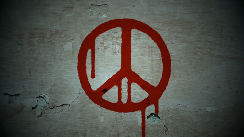 Bleeding peace - HD stock video clip