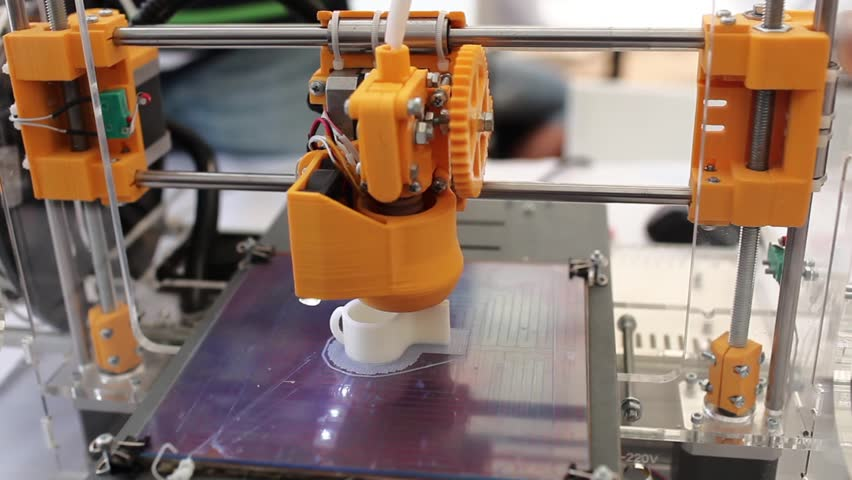 working 3d printer sequence. Tripod.