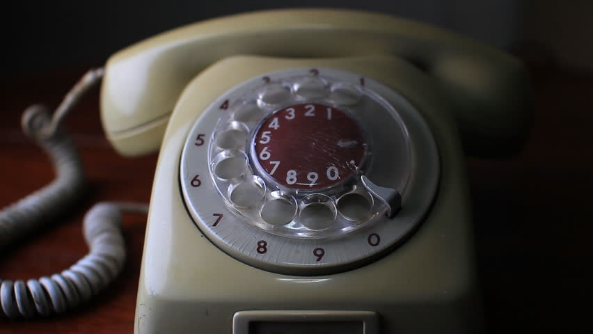 close-up view on old telephone dial  - HD stock footage clip