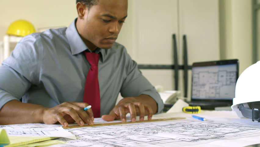 An Attractive Young African American Architect Or Engineer ...