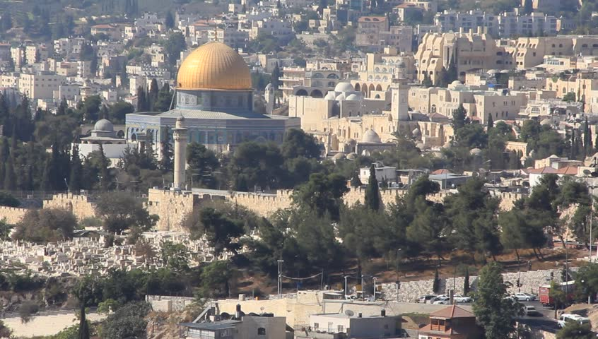 Jerusalem. The holy city, new Jerusalem, coming down from out of heaven - HD stock video clip