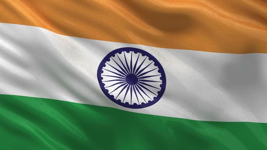 Clothe India Flag Hd: India Flag Loop 3 Stock Footage Video 1371568