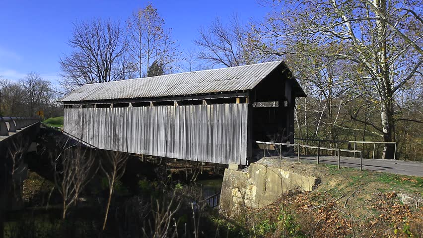 Ringos Mill Covered Bridge, Kentucky - HD stock video clip