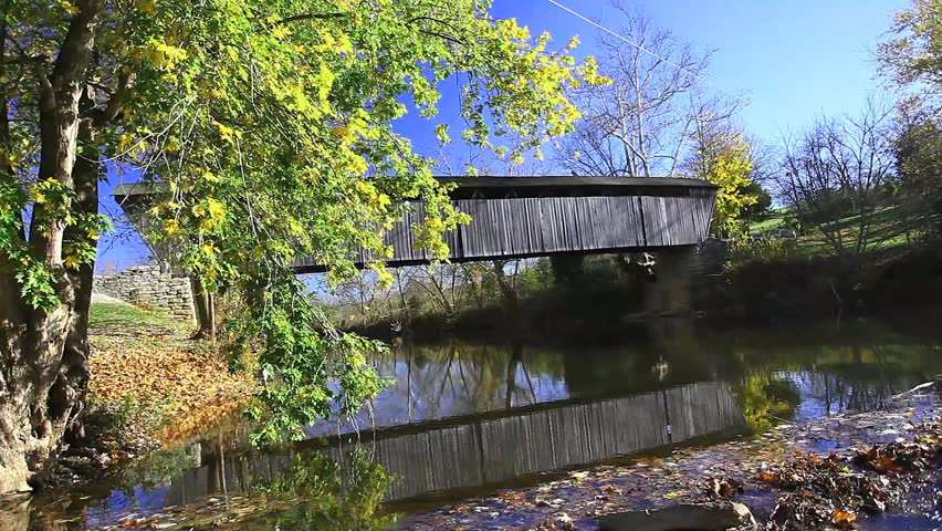 Switzer Covered Bridge, Kentucky - HD stock footage clip