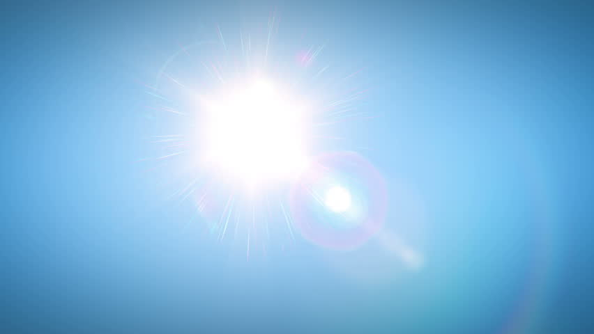 Sun moving across the clear blue sky. HD 1080. - HD stock footage clip