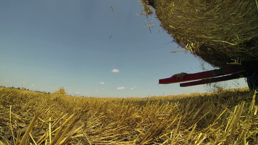 Hay Baler in Action.