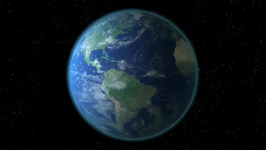 HD 1080 - Zoom In Earth (through Clouds From Space) Stock ...