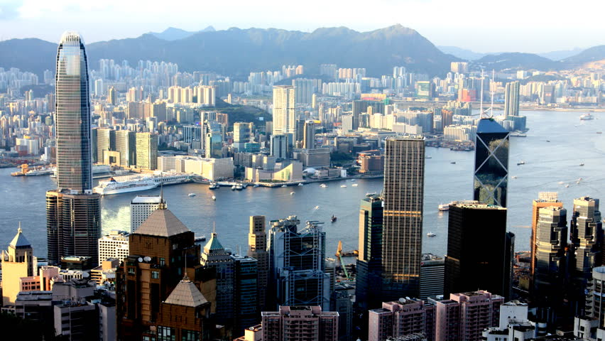 Hong Kong Day To Night Time Lapse  Cityscape From Victoria Peak | Shutterstock HD Video #4510523