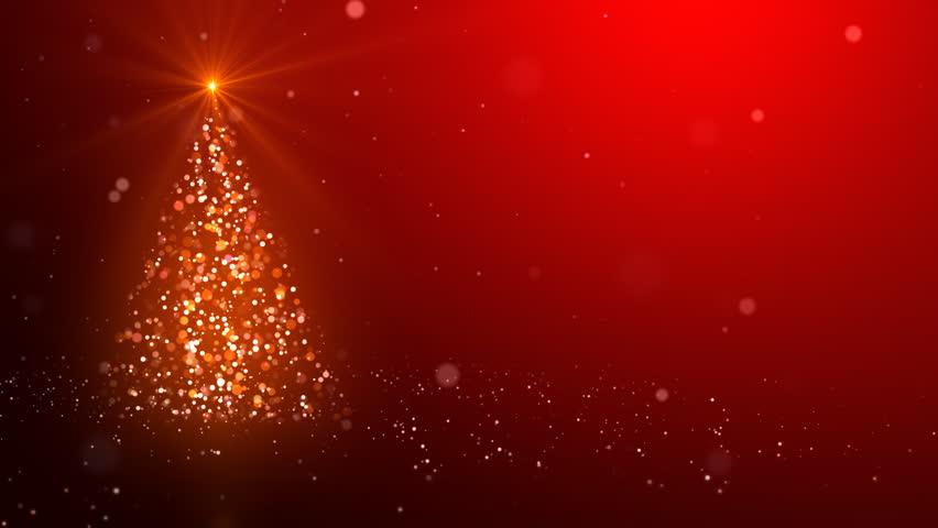 Snowflakes converge into the Christmas tree