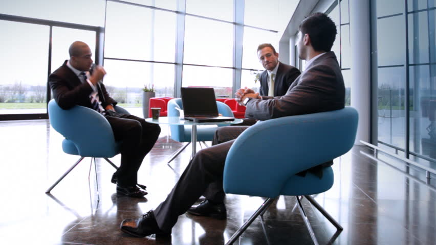 business people inside a modern office building zoom out hd stock video clip business office modern