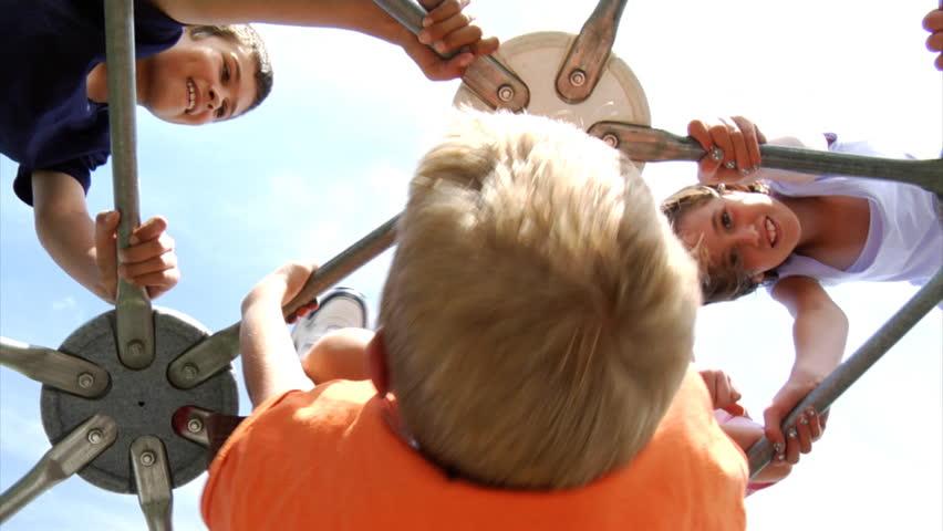 Children climb on play equipment | Shutterstock HD Video #4541258