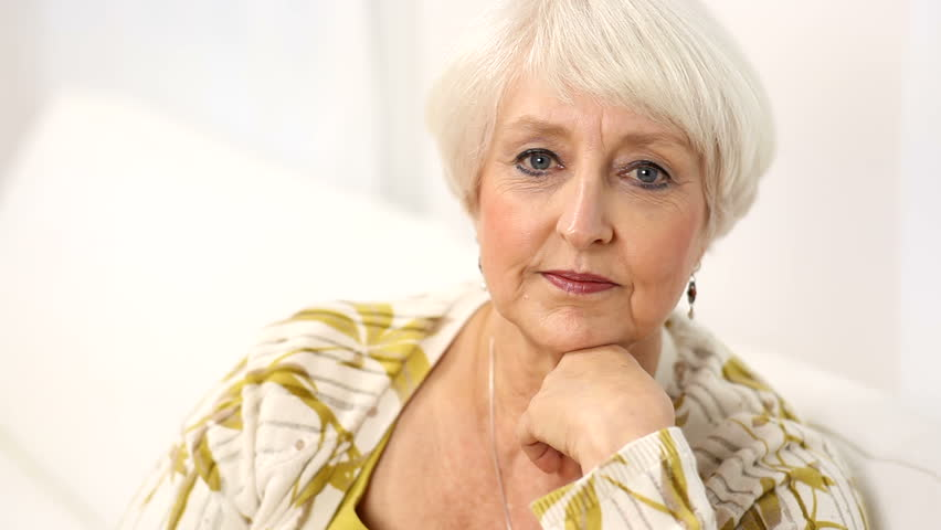Portrait of senior woman - HD stock video clip