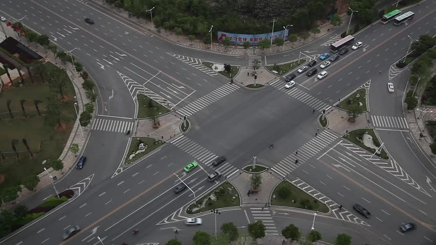 Traffic on junction in city | Shutterstock HD Video #4548530