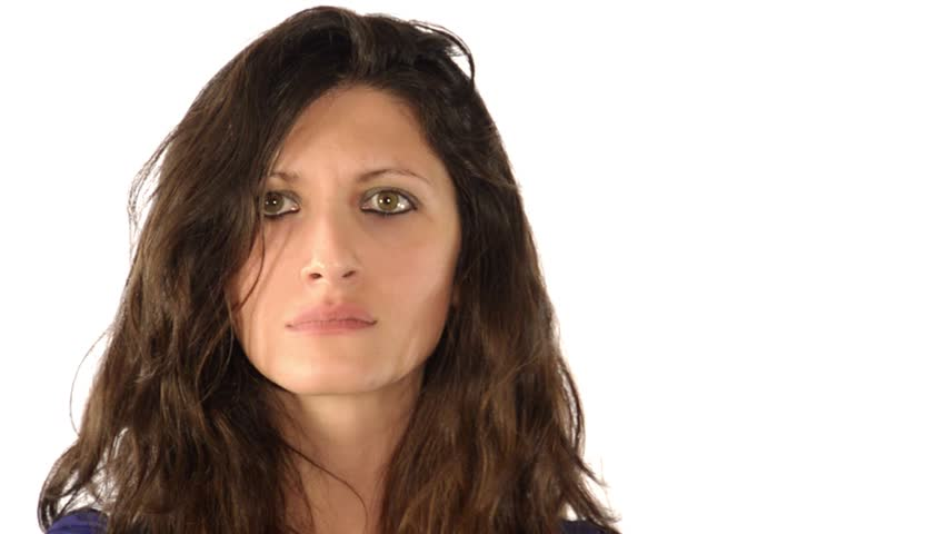 woman, facial expressions series, impatience  - HD stock video clip