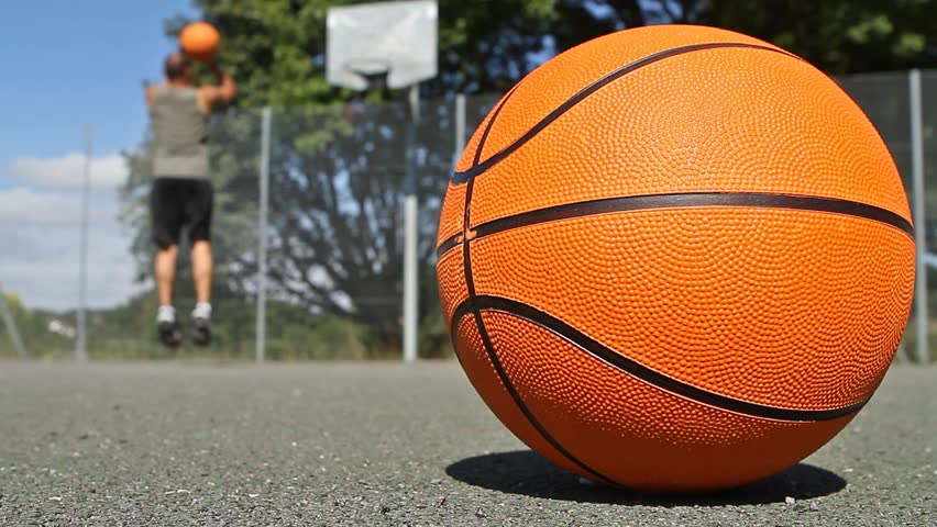 Basketball Player Practicing on his own - HD stock footage clip