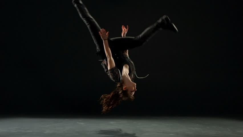 Woman dancing, slow motion