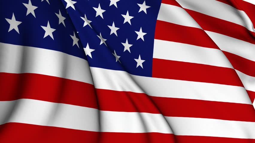 USA flag - Old Glory flag - HD stock footage clip