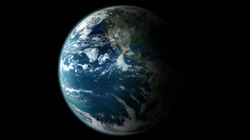 Earth Rotating, The World Spinning, Full Rotation, Seamless Loop - Realistic Planet Turning 360 Degrees | Shutterstock HD Video #4584485