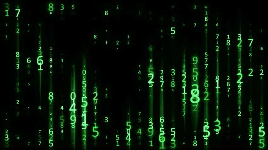 Matrix Digital Rain - Green - Data Flow Loop