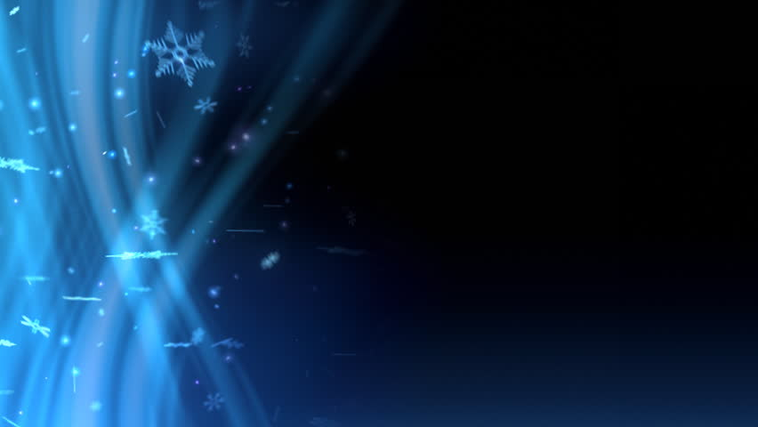 animated snowflakes on a blue wavy background the clip is