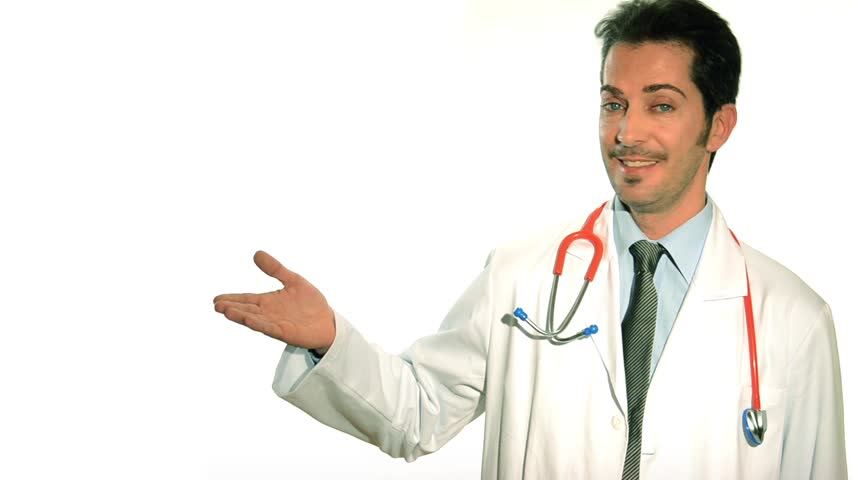 Portrait Of Doctor Sitting On Edge Of Table Stock Footage ...Doctor Stethoscope Images Hd