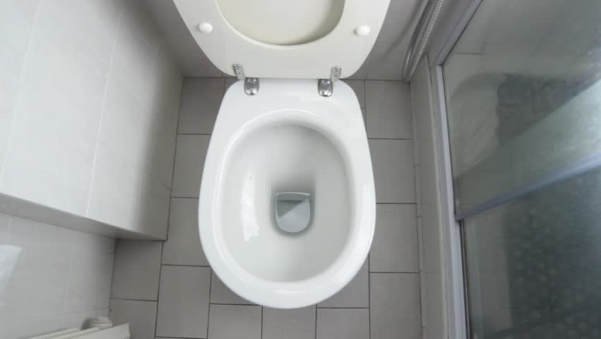 how to clean overspilled toilet water