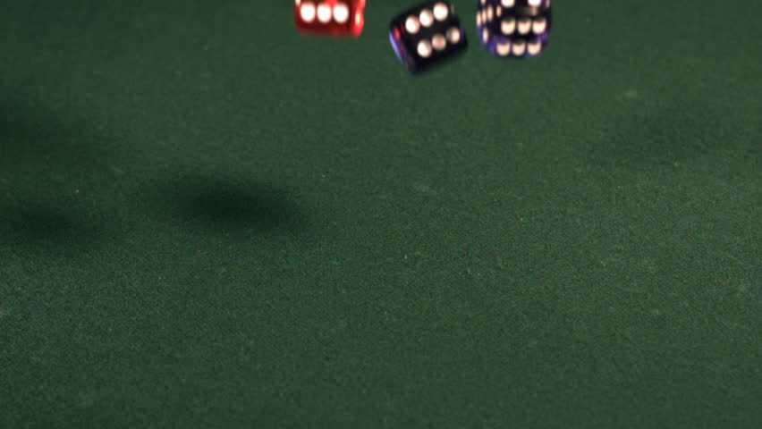 Dice falling in slow motion | Shutterstock HD Video #4703996