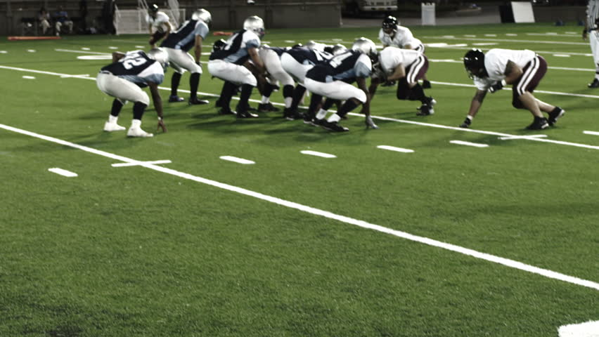 Running back gets tackled - HD stock footage clip