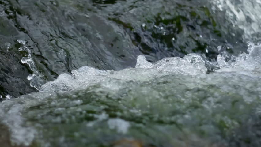boiling water, mountain river  rapids, mountain river close up #4714877
