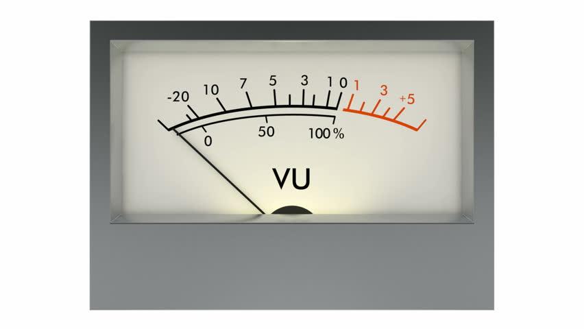 Analog Meter Needle : Analog vu meter stock footage video  shutterstock