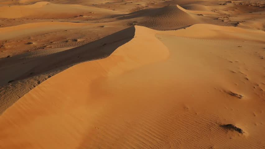 Flying over sand dunes, Aerial, Arabian Dessert, Dubai, UAE