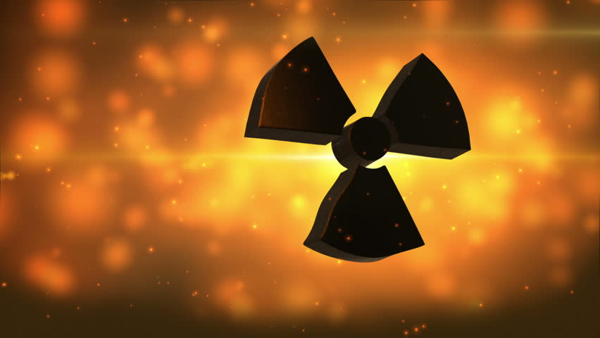 video background with nuclear symbol video background