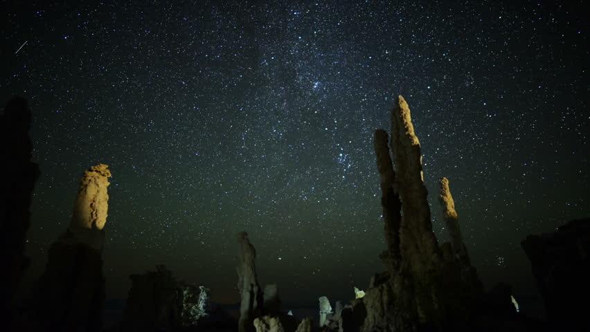 Mono Lake Perseid Meteor Shower 01 Milky Way Time Lapse