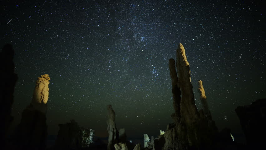 Mono Lake Perseid Meteor Shower 01 Milky Way Time Lapse