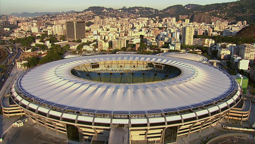 Flying directly over Maracana Stadium, Rio De Janeiro, Brazil