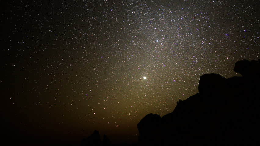 Astrophotography Time Lapse -Night to Day in Desert- Pan