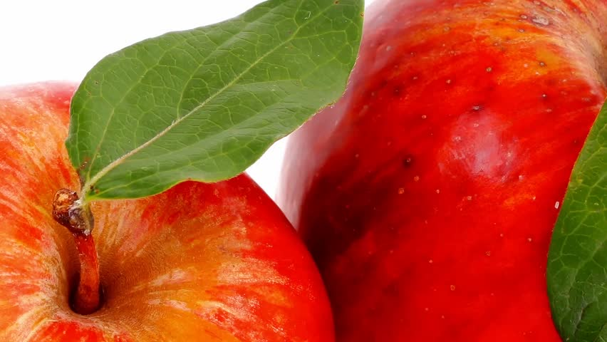 group of red and green fresh ripe apples with half 1920x1080 intro motion slow hidef hd