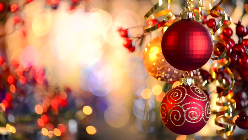 Christmas and New Year Decoration. Abstract Blurred Bokeh Holiday Background. Blinking Garland. Christmas Tree Lights Twinkling. | Shutterstock HD Video #4820951