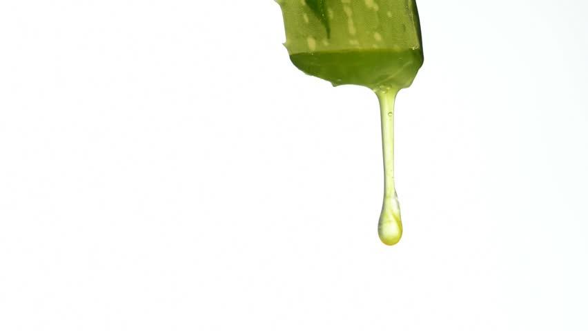 Aloe juice is running down | Shutterstock HD Video #4821545