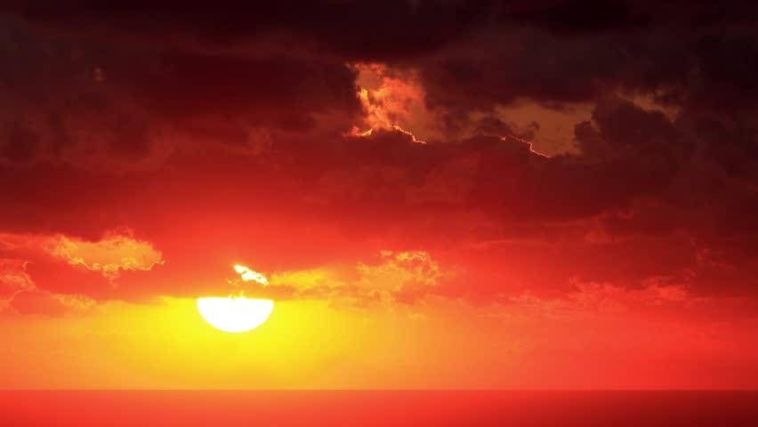 Timelapse sunset on the Black Sea. Crimea, Ukraine. FULL HD  #4856609